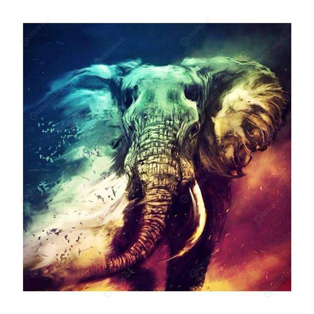 5D DIY Full Drill Diamond Painting Elephant Cross Stitch Kits Art Wall Decors