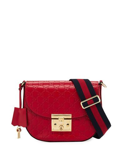 fc252b80b204 V3KHS Gucci Padlock Medium Guccissima Curved Crossbody Bag ...