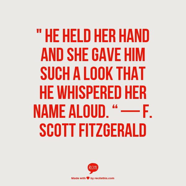 The Love Of The Last Tycoon Quotes: He Held Her Hand And She Gave Him Such A Look That He