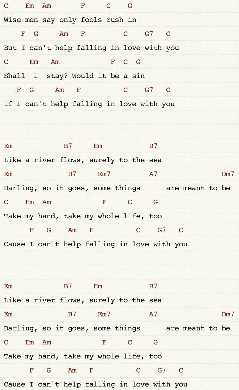 Best Cant Help Falling In Love Ukulele Chords Twenty One Pilots
