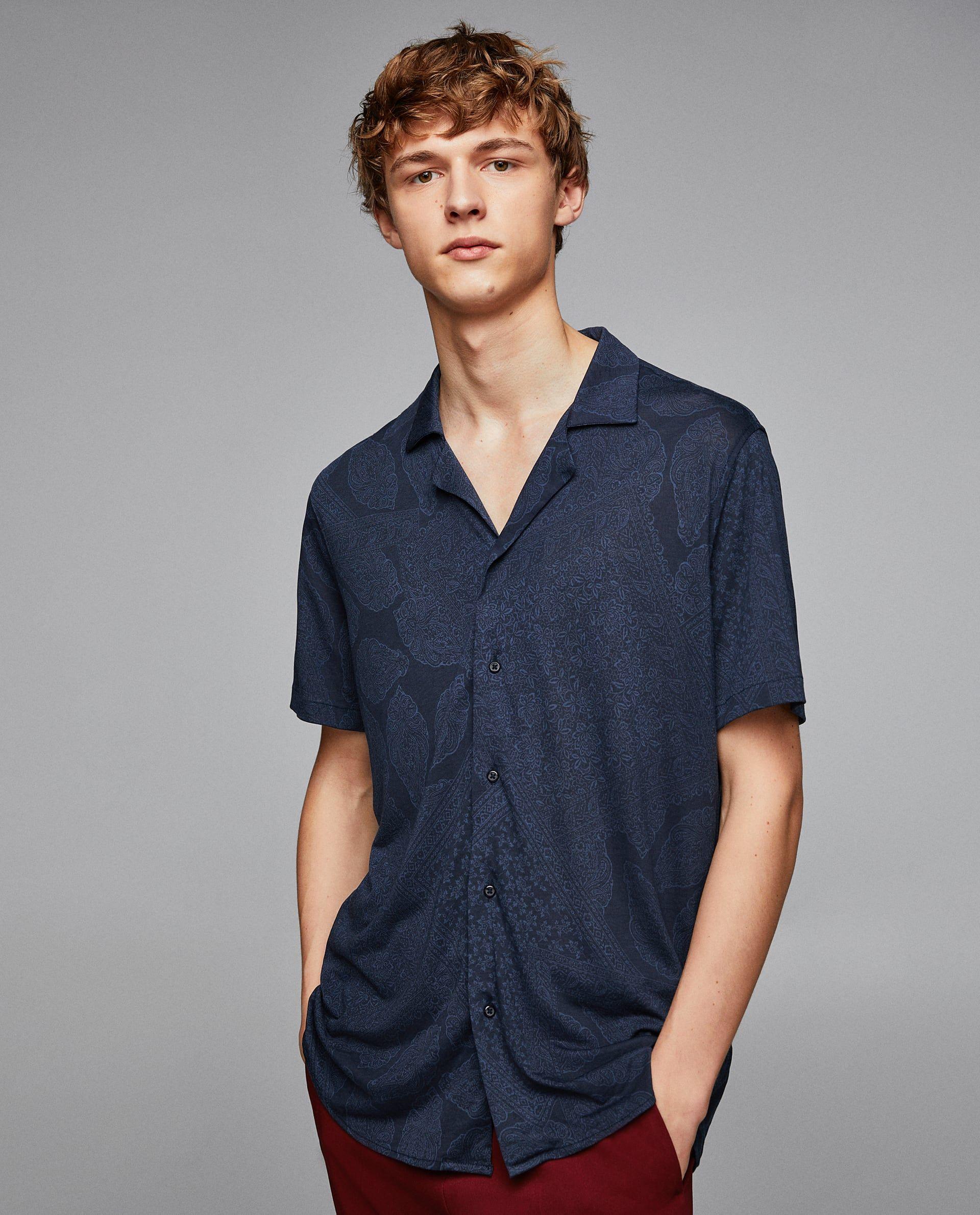 2019 De 2 Camisa Zara Fluida En Graficos Imagen Estampada 8q5dqw