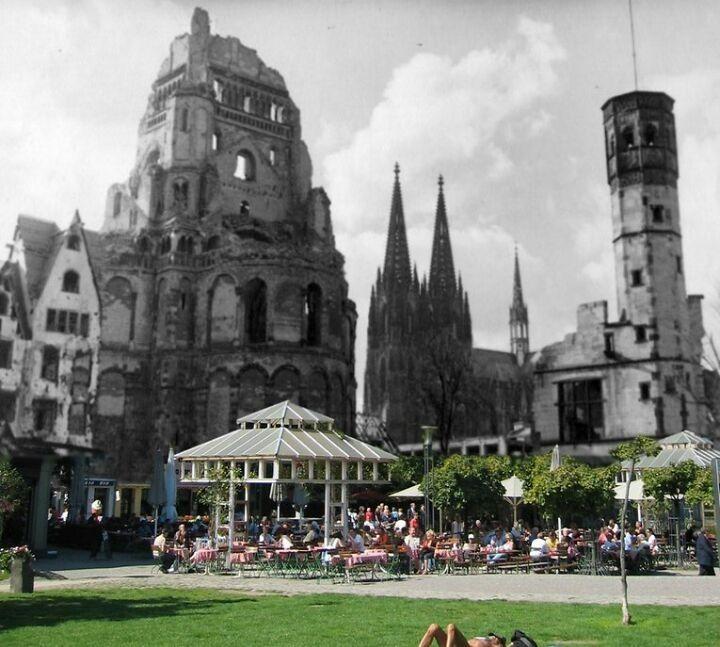Koln Damals Und Heute Cologne Germany Germany Barcelona Cathedral