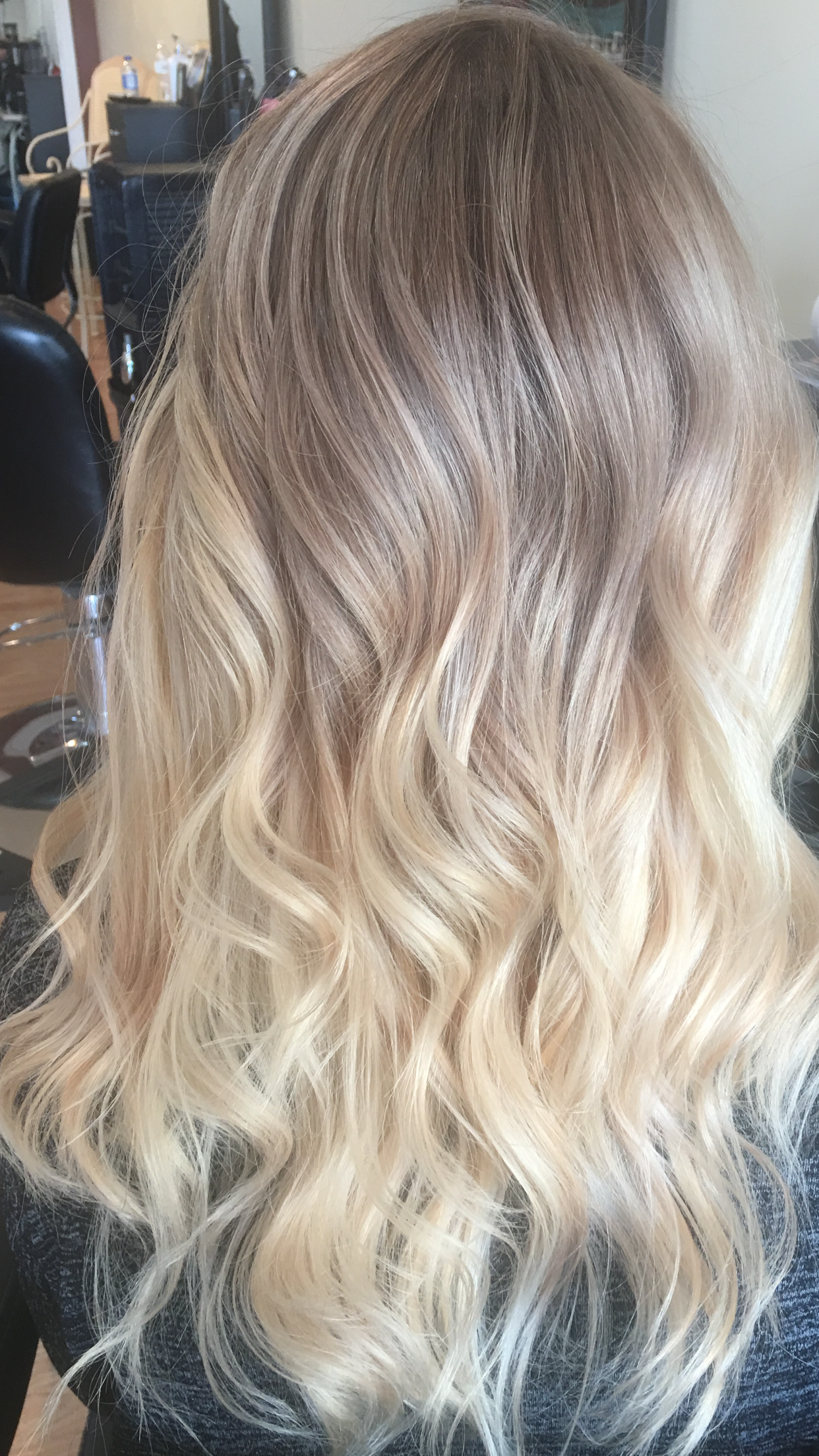 ashy blonde ombr balayage hair i did pinterest ashy blonde balayage and blondes. Black Bedroom Furniture Sets. Home Design Ideas