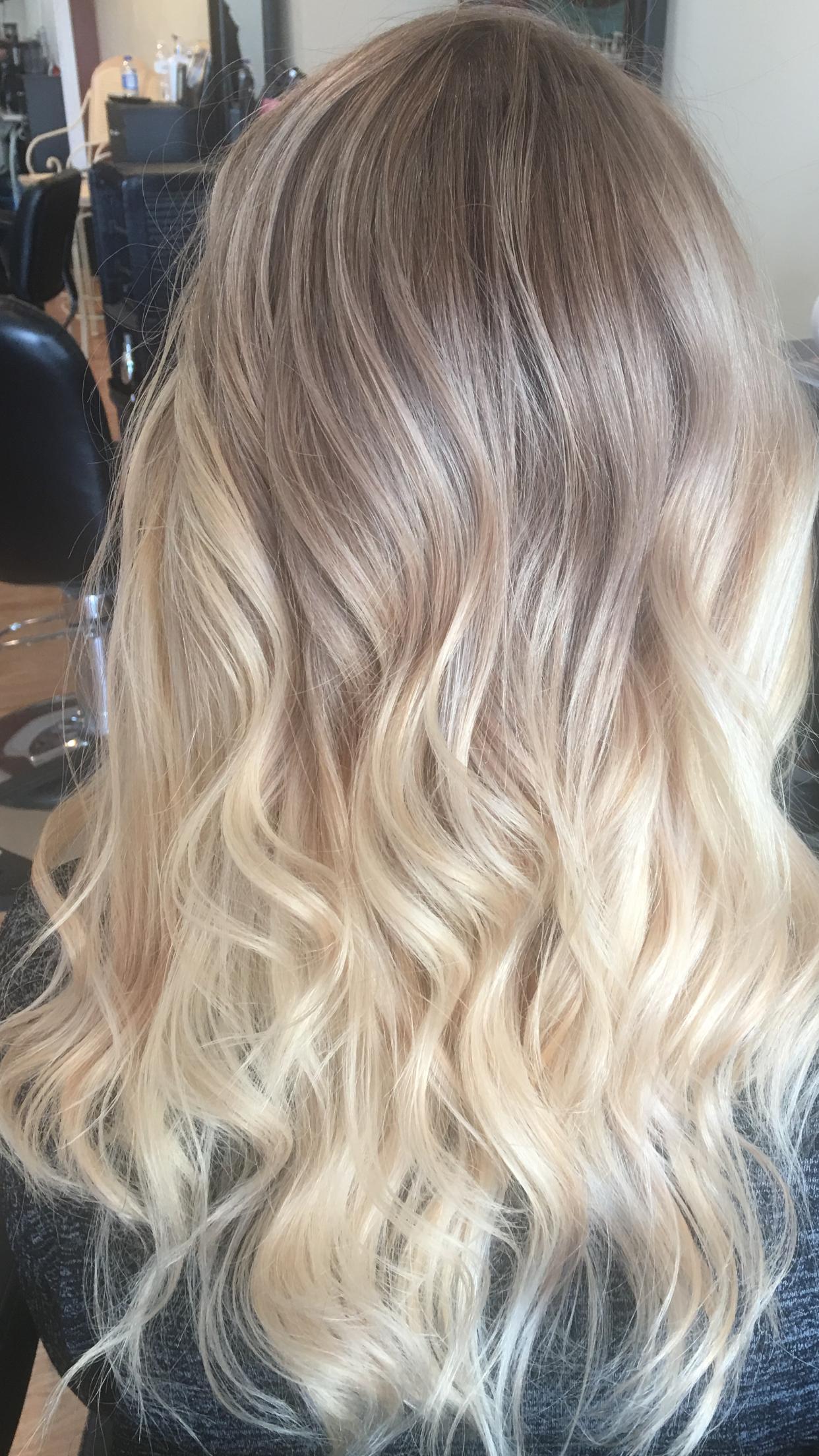 Ombre balayage platinum blonde long hair balayage ombre ashy blonde ombr balayage urmus Images