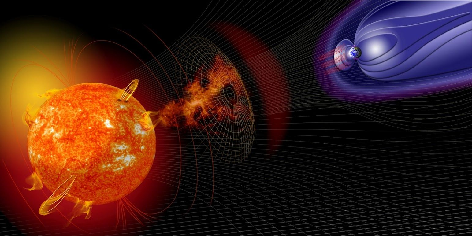 Geomagnetic storms. Perfect illustration.