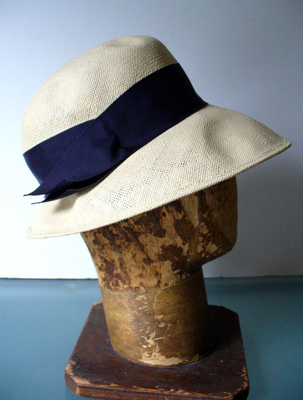 40/'s-Early 50/'s Ivory Linen Sun Bonnet Hat