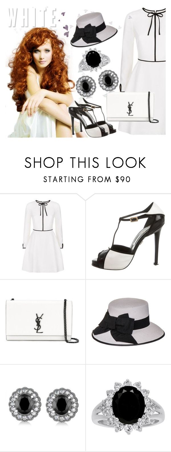 """Bright White Light"" by lullulu ❤ liked on Polyvore featuring Ted Baker, Roger Vivier, Yves Saint Laurent, Black and Allurez"