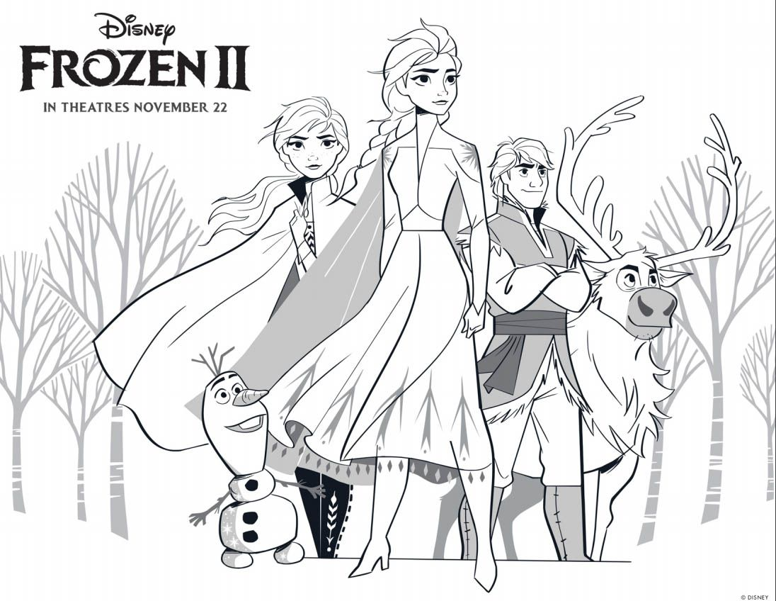 Frozen 2 Coloring Pages Anna And Kristoff