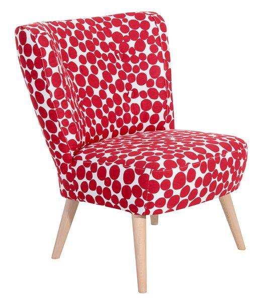 Dieser Formschone Sessel Mit Vier Zierknopfen Verleiht Jedem Raum Das Gewisse Etwas Die Schlichte Machart Im Angesagten Retro Stil M Sessel Rot Retro Stil Rot