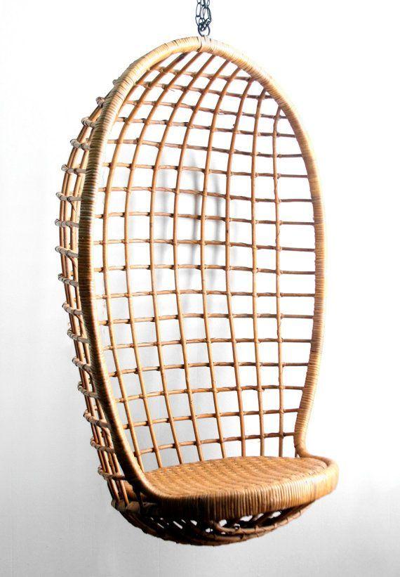 Vintage Rattan Egg Chair Google Search