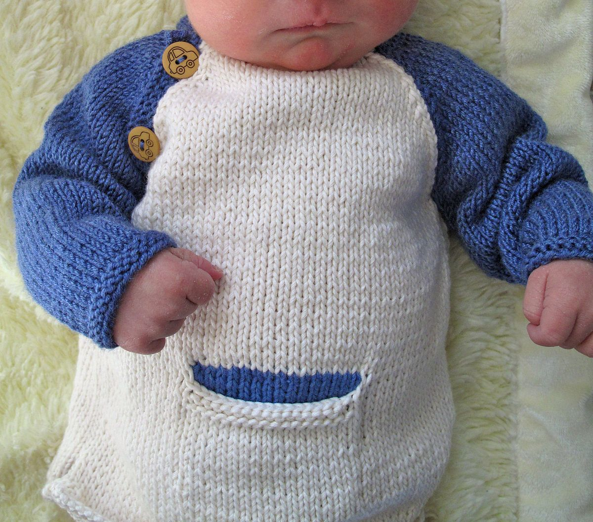 d2c90fe431d4 Free Knitting Pattern for Baby Baseball Tee With Mittens - This two ...