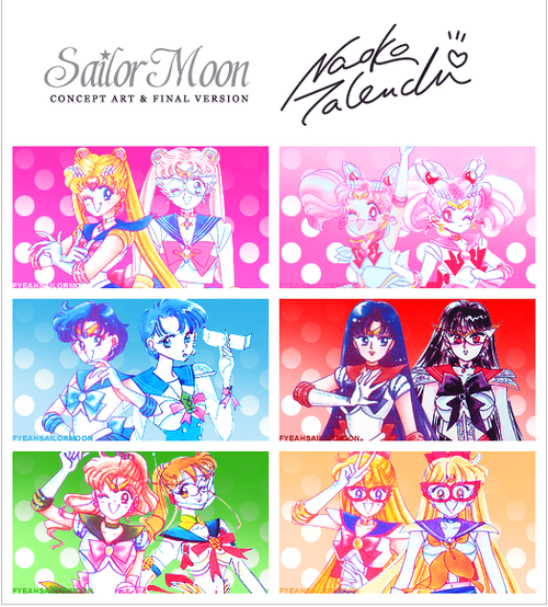Naoko Takeuchi Sailor Moon Manganese Inner Senchi Concept And Final Version Sailor Moon Character Sailor Moon Usagi Sailor Moon Manga