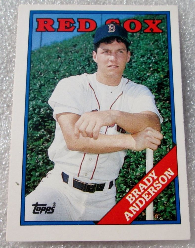 1988 topps brady anderson rookie card nm_m rc 5t ebay