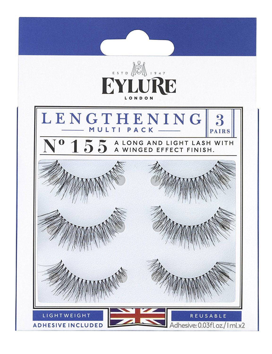 b21d626922c (Multi Pack- 3 Pairs) Eylure Naturalites 155 False Eyelashes, Black * Check  this awesome product by going to the link at the image. #makeup