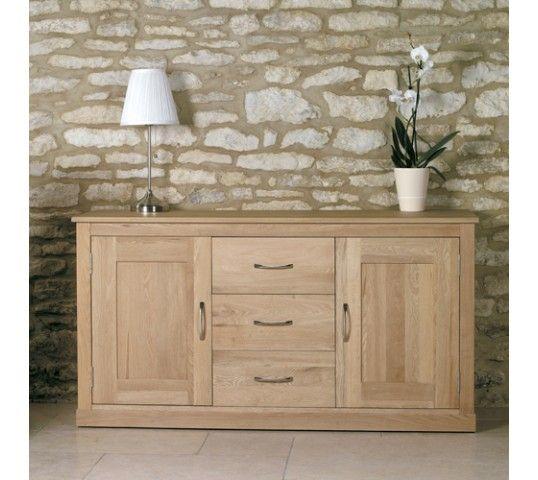 mobel solid oak 4 drawer television cabinet