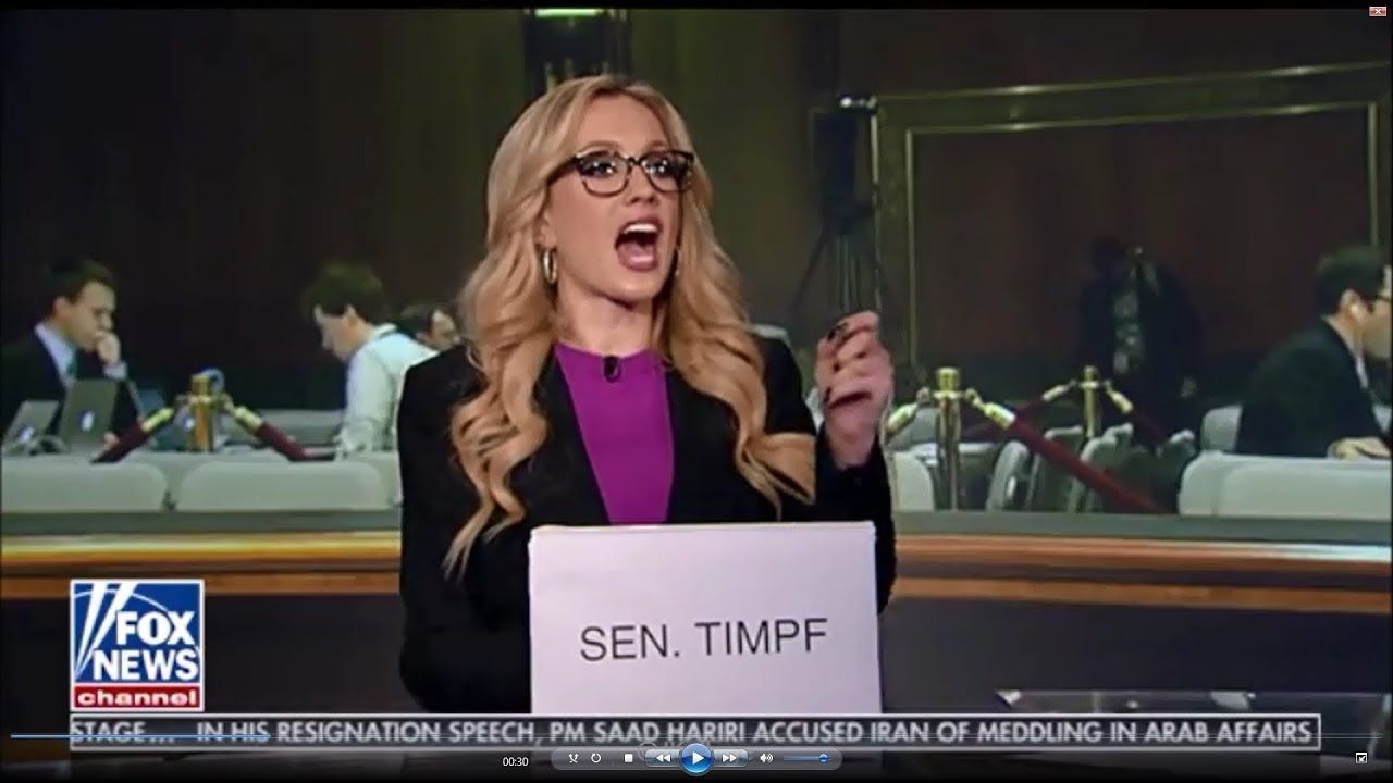 11-04-17 Kat Timpf on The Greg Gutfeld Show - Senator Kat