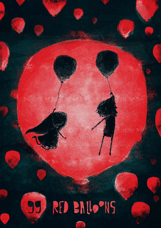Behance 99 Red Balloons by Katerina Nikolovska My