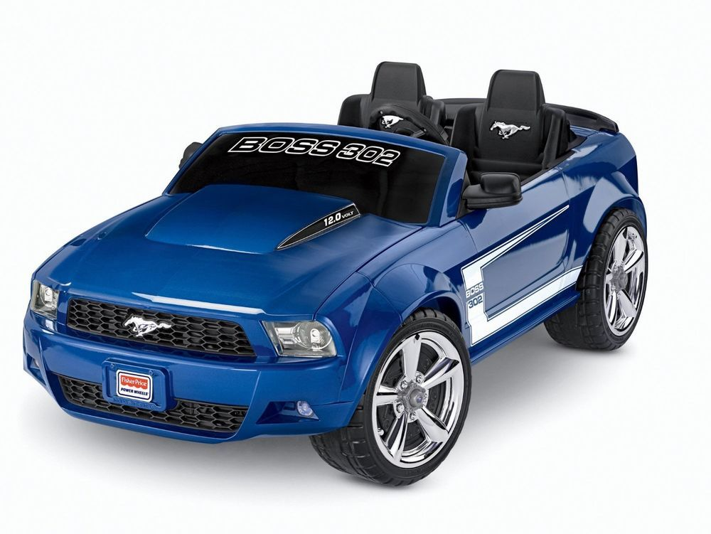 power wheels boss 302 ford mustang car ride on kids electric ford outdoor toy