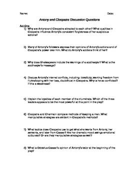 antony and cleopatra essay questions and answers