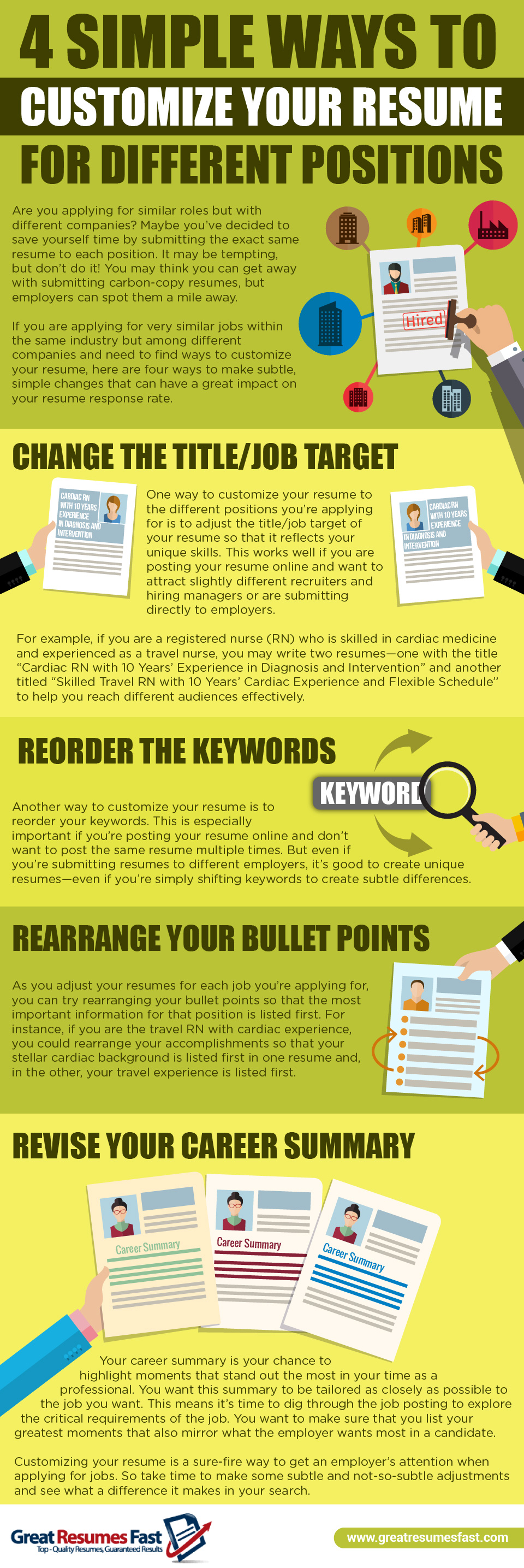 Infographic 4 Simple Ways To Customize Your Resume For Different