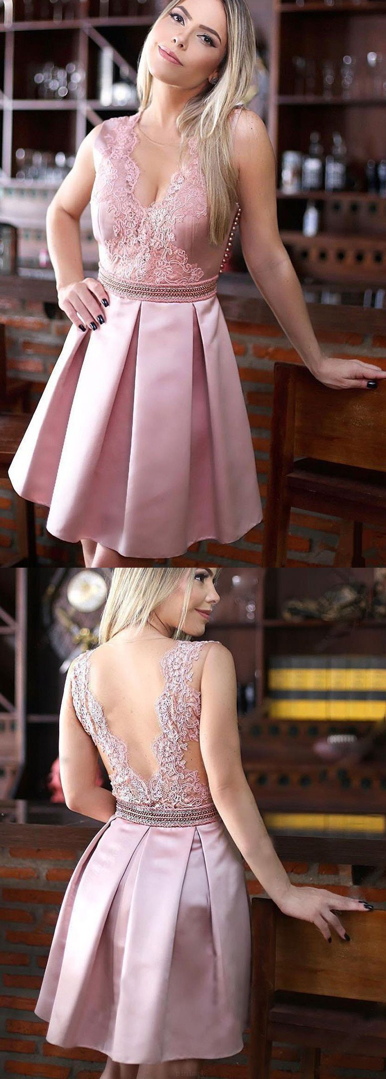 Customized pink alineprincess homecoming prom dresses fancy short