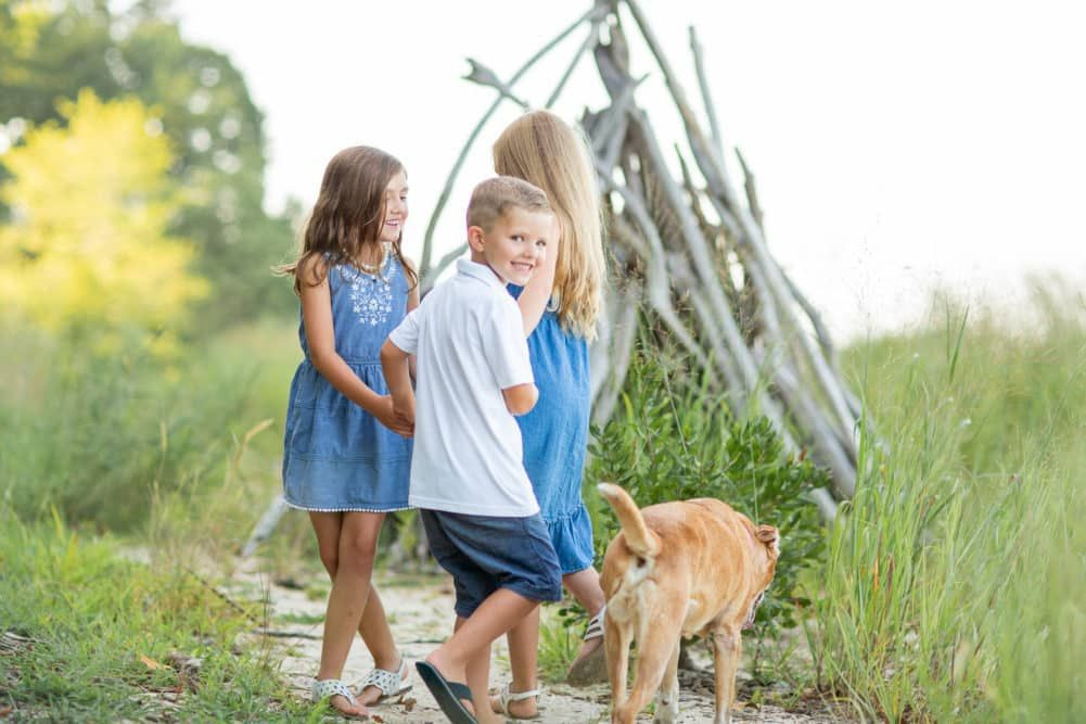 Grassy Riverfront Session at Widewater State Park Family