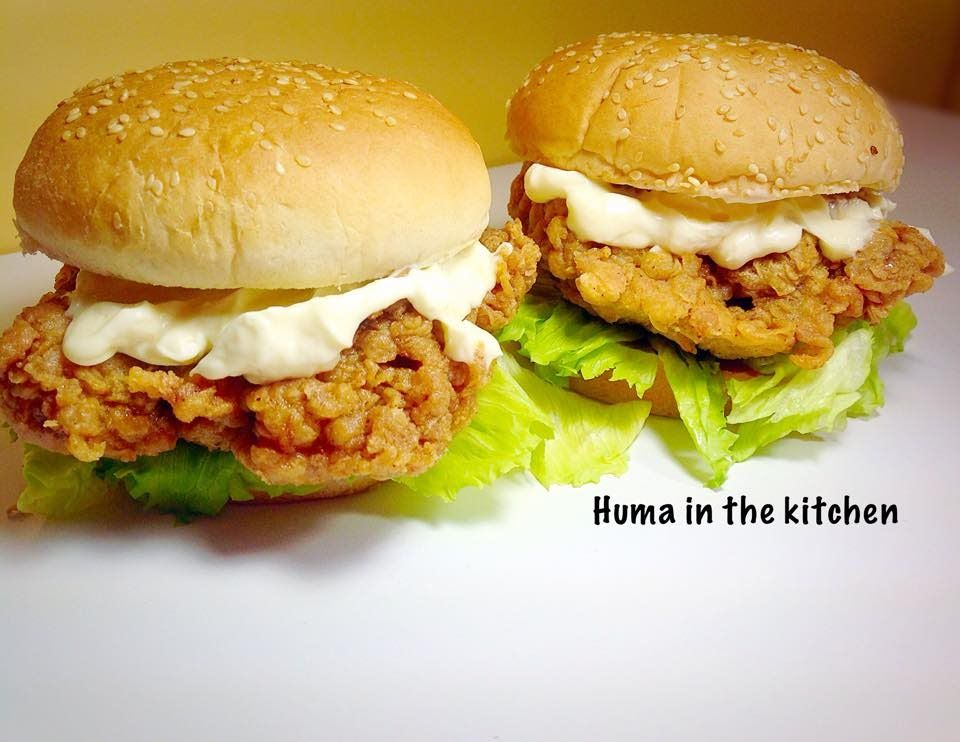 Zinger Burger Recipe KFC Style At Home With Very Easy 5 ...