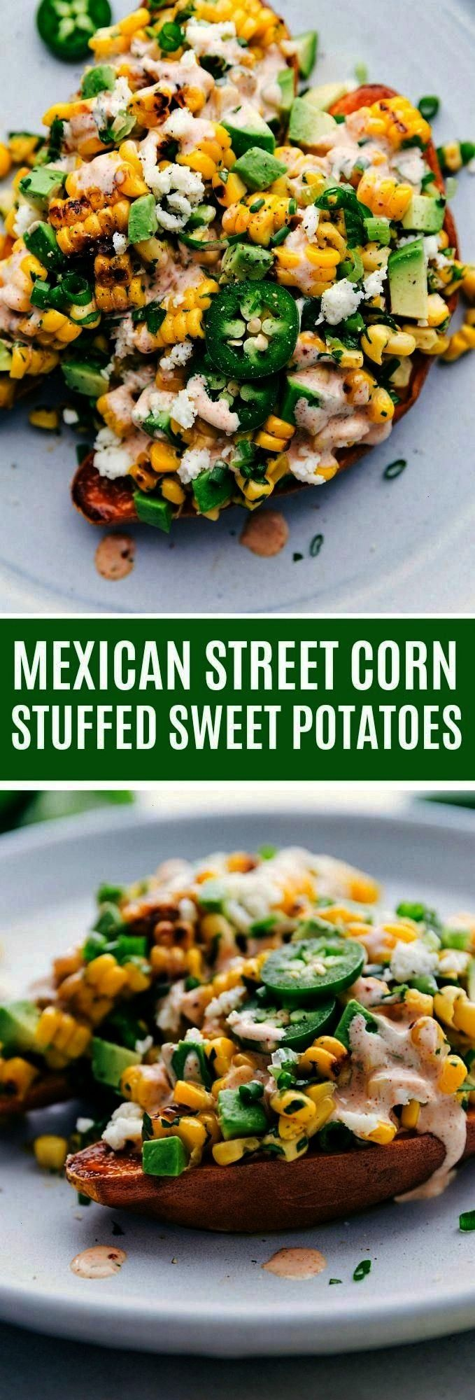 "Street Corn"" inspired loaded sweet potato is an easy oven-baked sweet potato with a delicious mix"