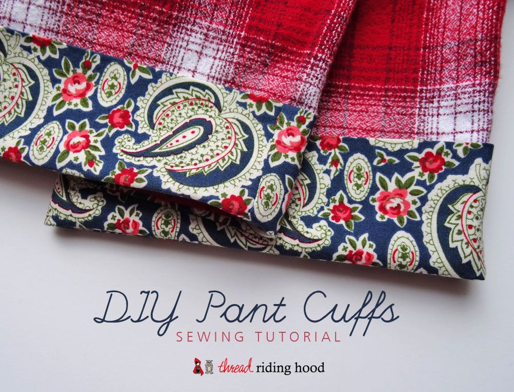 Diy pant cuffs sewing tutorial with countryclothesl