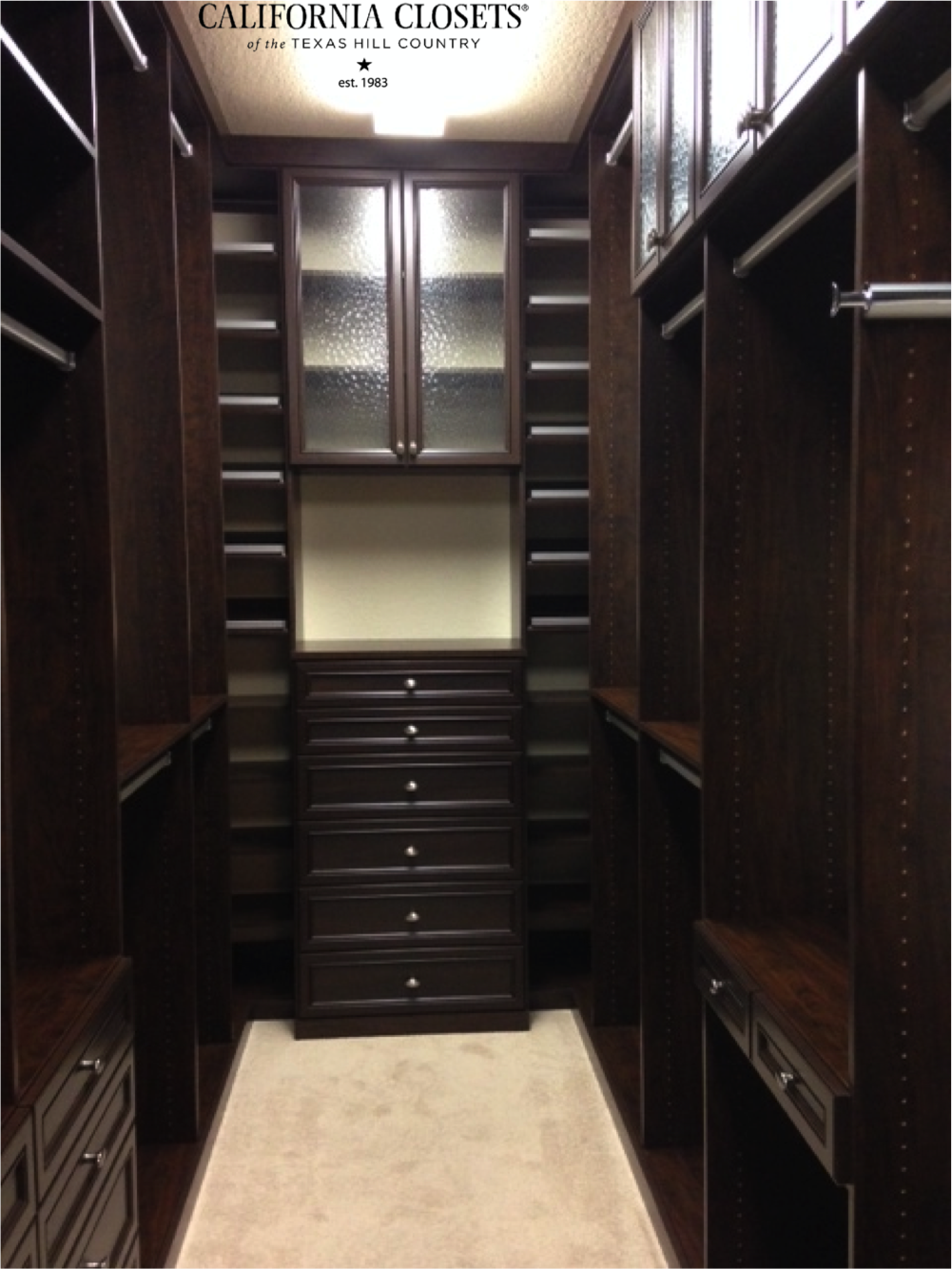 Superior One Of Our Designers, Carly, Designed This Fabulous Master Closet In  Chocolate For A
