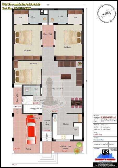 30 x60 = 1800 Sqft West Facing House Plan Mr Jafar Ji 30X60