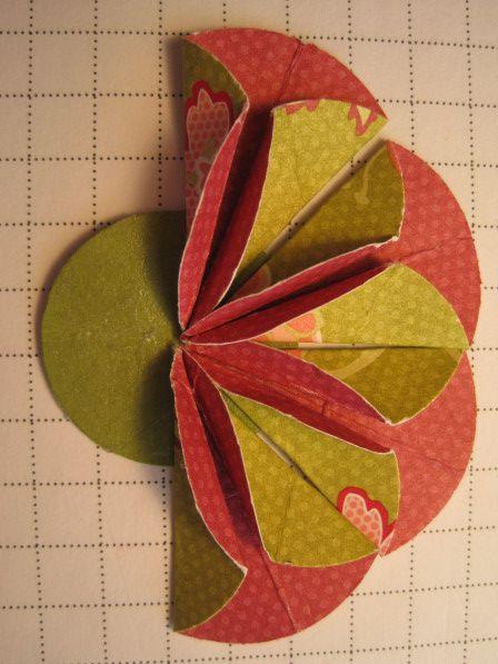 dahlia fold flower card  fancy fold cards flower cards
