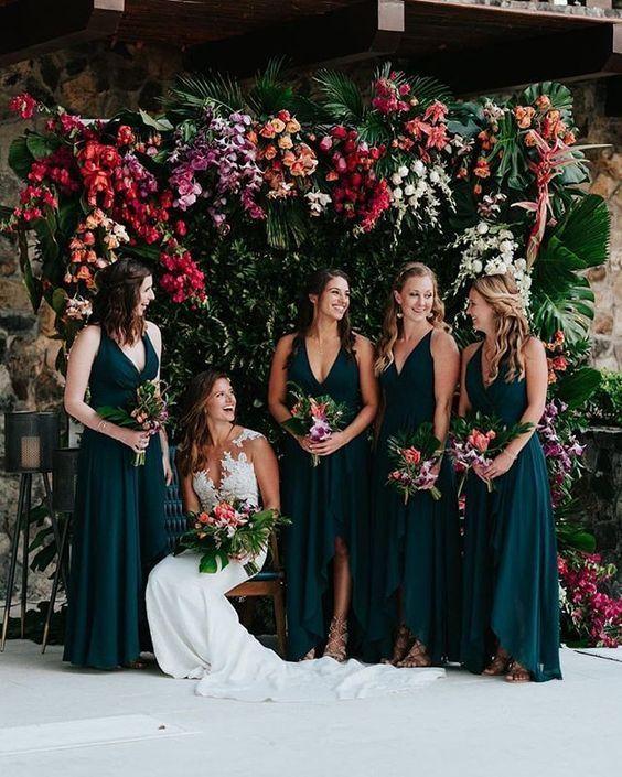 Green bridesmaid dress ,pretty and cheap chiffon bridesmaid dress prom dress – Wedding flowers