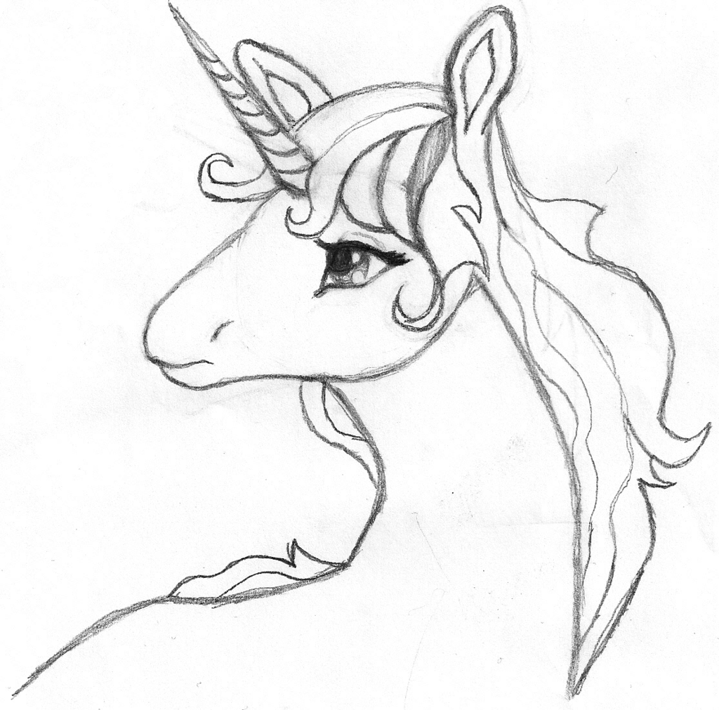the+last+unicorn+coloring+pages | Last Unicorn Sketch by ...