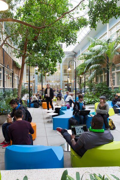 Exterior Campus Study Spaces Google Search Atrium Design Public Space Design Mall Design