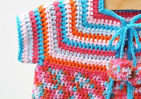 Babyjacke Häkeln Für Sommer Häkeln Pinterest