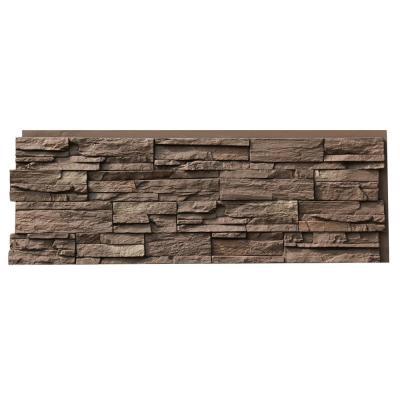 Urestone 24 In X 48 In Ledgestone Almond Taupe Stone Veneer Panel Ul2610 45 Faux Stone Siding Stone Siding Panels Stone Siding