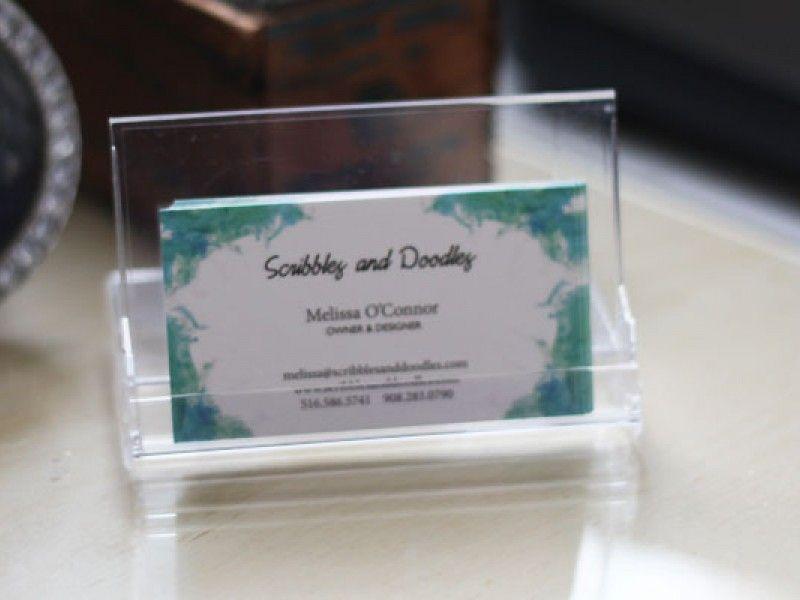 DIY Business Card Holder and Desk Calendar | Business card holders ...