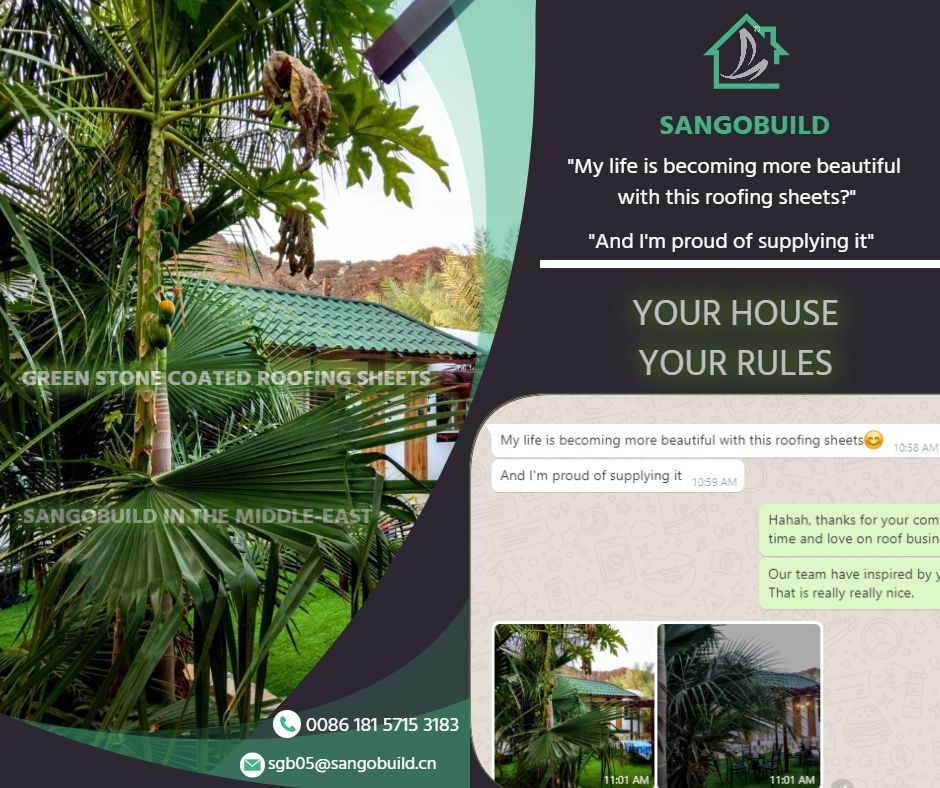 Life Is Getting Beautiful By Sangobuild Roof In 2020 Sheet Metal Roofing Roofing Sheets Roofing