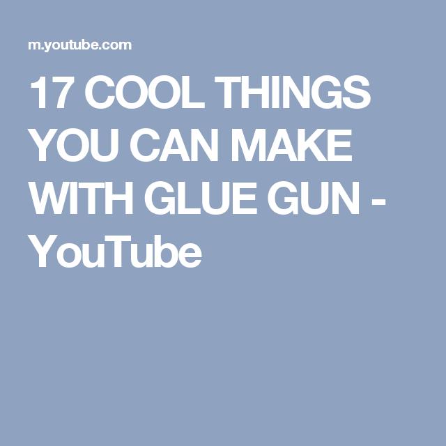 how to make glue youtube