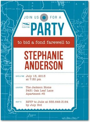 Party Farewell Party Invitation Is Your Newest Idea Of Graceful - Party invitation template: going away party invitation templates