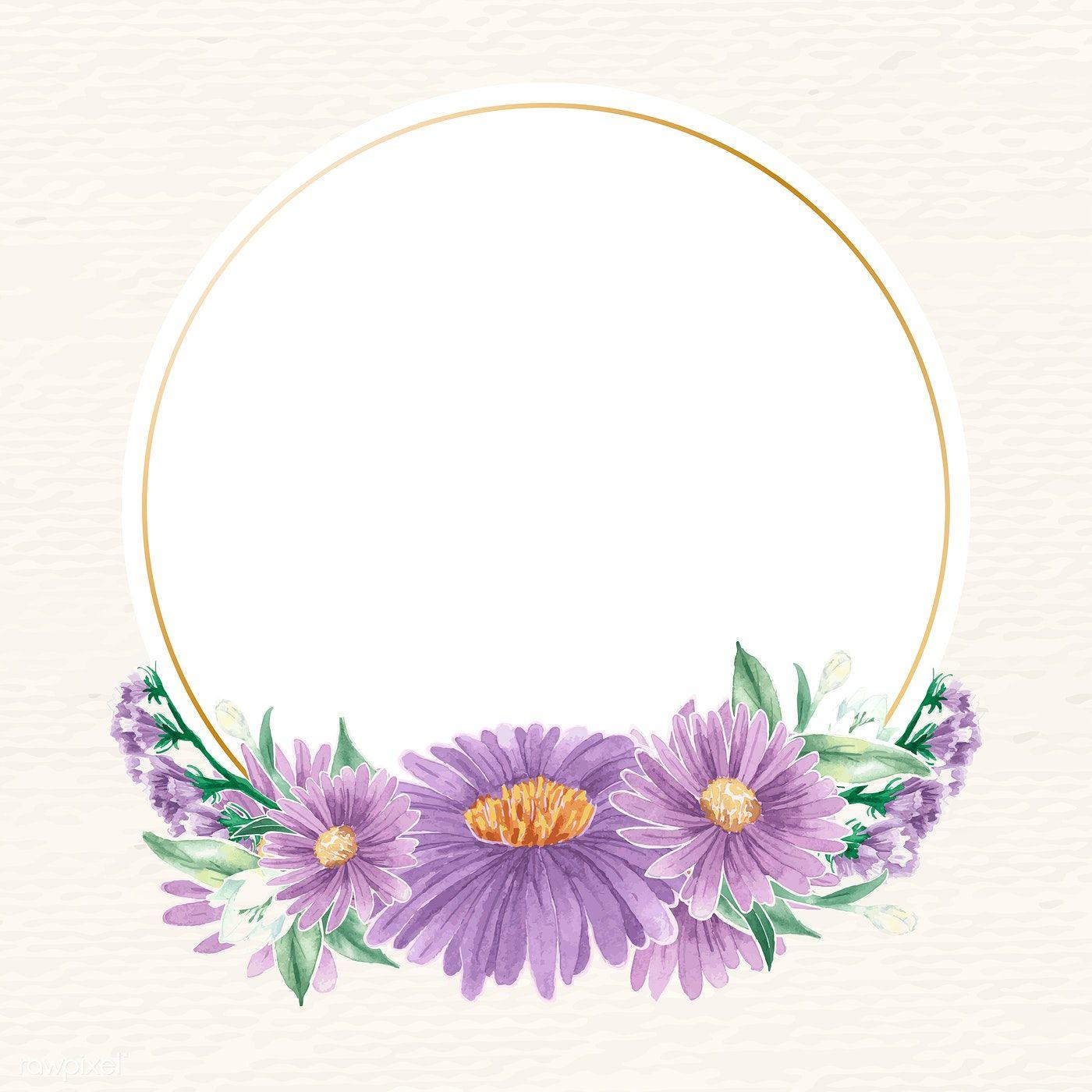 Download premium vector of Round gold flower frame vector