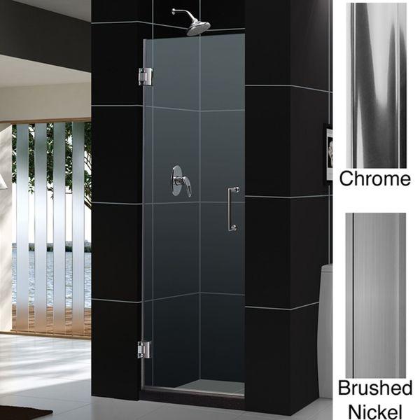 Dreamline Unidoor 24x72 Inch Frameless Hinged Shower Door