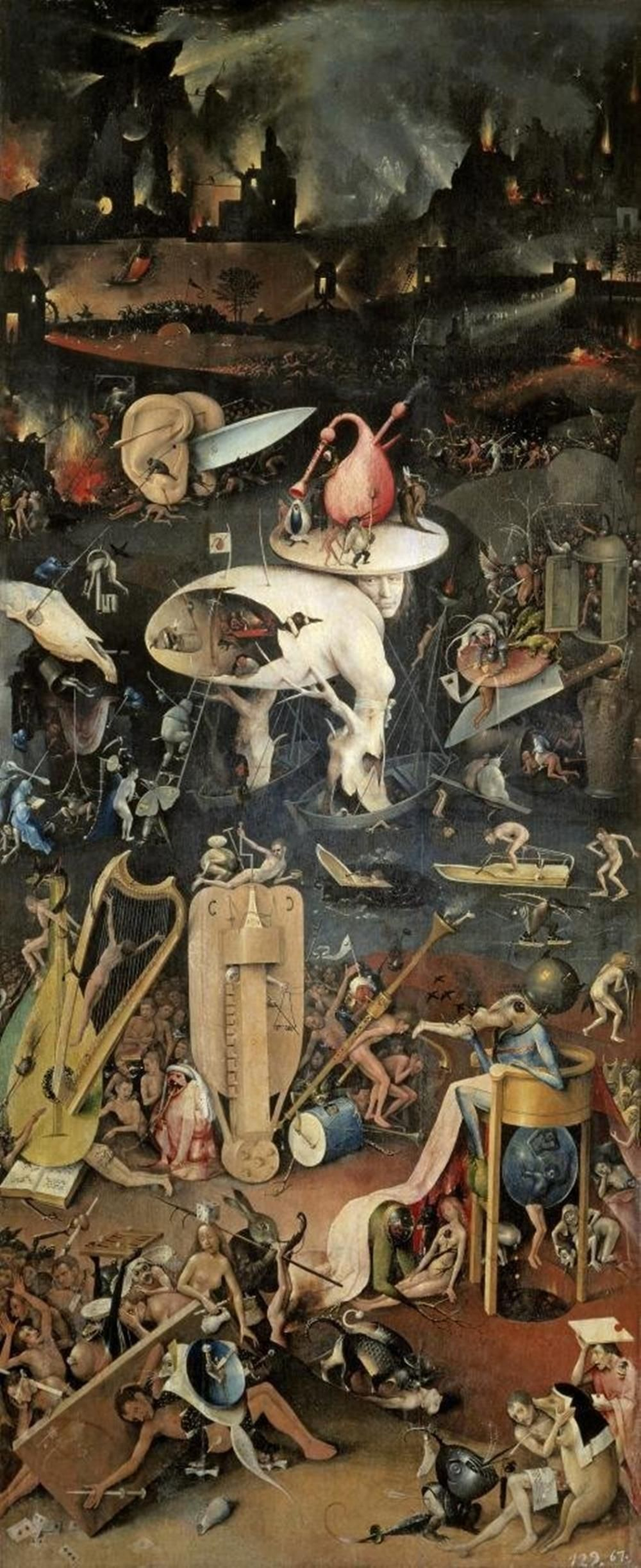 Hieronymus Bosch Garden Of Earthly Delights Detail Right