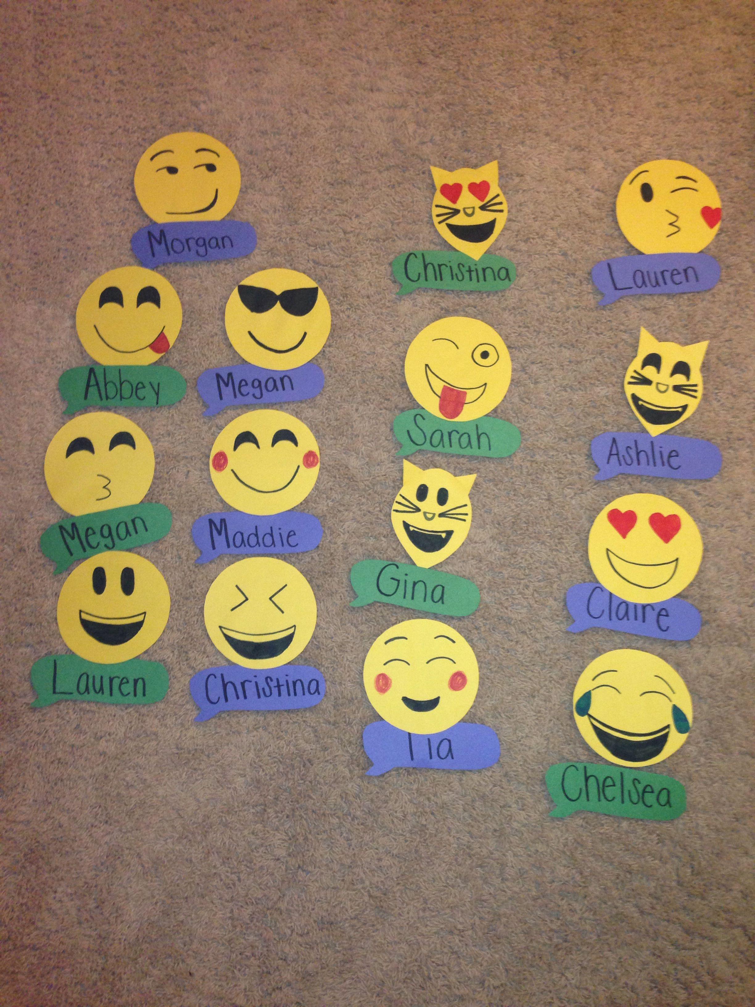 Emoji Door Decs College Dorm College Bulletin Boards