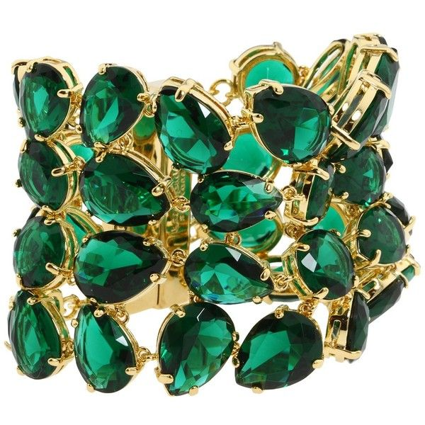 Kate Spade New York - Palace of Mirrors Bracelet (Emerald) - Jewelry ($196) found on Polyvore