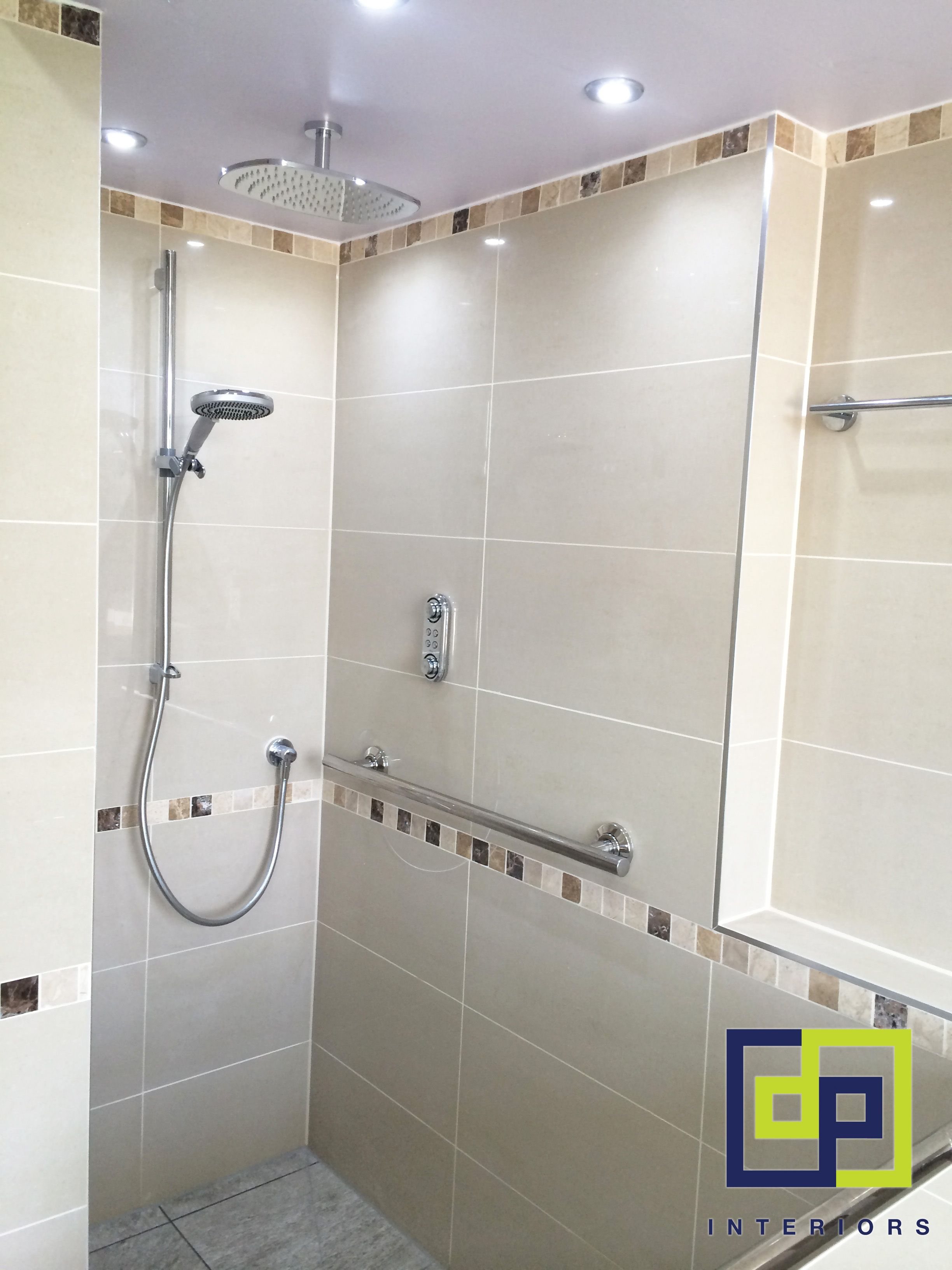Bespoke bathroom creams and brown border tiles | Completed Bathrooms ...