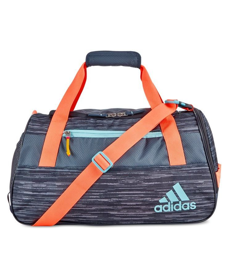 adidas elevates the gym bag to stylish with the fresh design of the Squad  Iii duffel.  1a27a4cee3a42