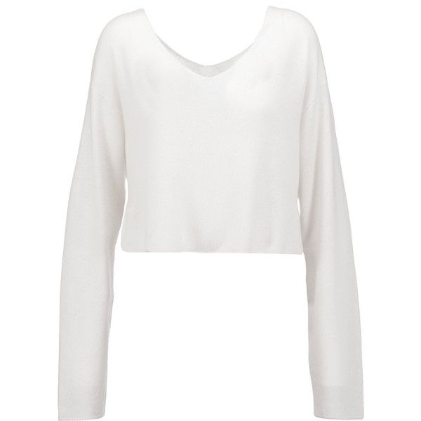 A.L.C. - Martin Cropped Cashmere Sweater ($155) ❤ liked on ...