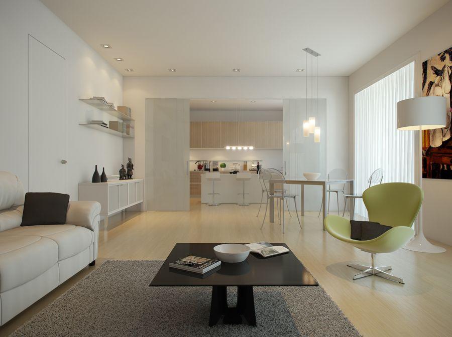 Cucina chiusa da porta a vetri scorrevole | Idee Casa | Pinterest ...